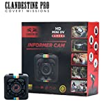 ClandestinePro – HD Informer CAM, Mini Hidden – HD, Small, Portable Spy Cam – Nanny Cam w/Motion Detection & Night Vision – 1080P Wireless Mini Security Camera Includes 32GB Micro SD Card & Adapter