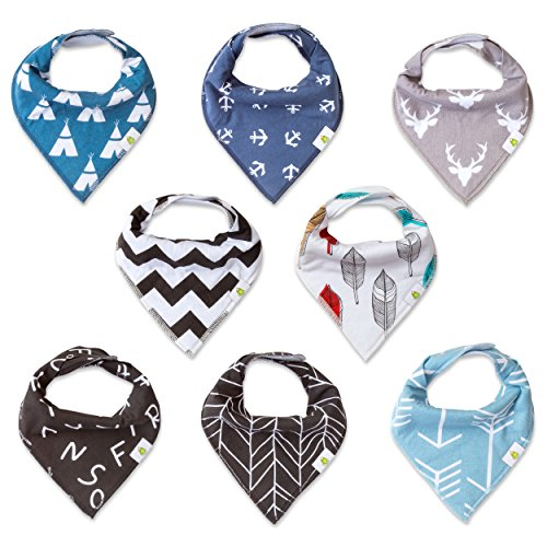 Mens Instant Western Kit (Baby Bandana Drool Bibs By BéBé Bazaar, Unisex 8-Pack Absorbent Organic Cotton, Cute Baby Gift for Boys & Girls)