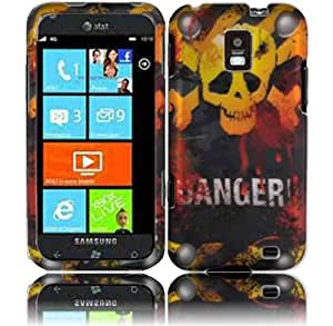 Hard Danger Skull Case Cover Faceplate Protector for Samsung Focus S i937 with Free Gift Reliable Accessory Pen