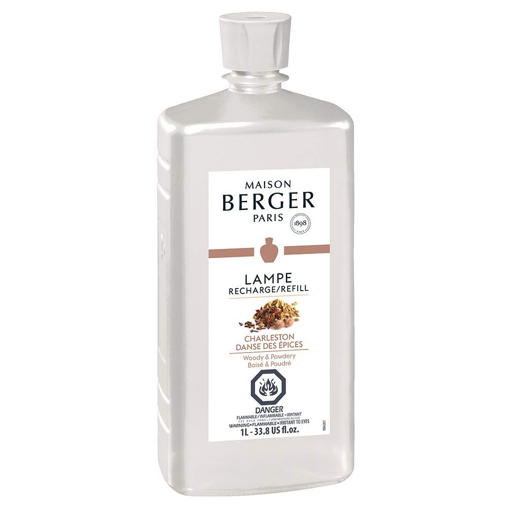 Charleston | Lampe Berger Fragrance Refill for Home Fragrance Oil Diffuser | Purifying and perfuming Your Home | 33.8 Fluid Ounces - 1 Liter | Made in France by MAISON BERGER