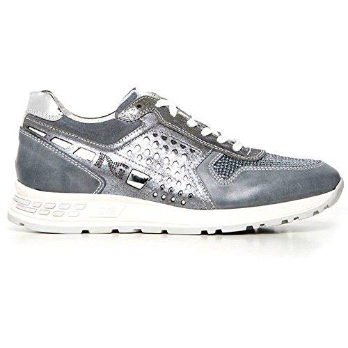 Sneaker Donna Bassa in Camoscio Blu P717220D 205 - Nero Giardini