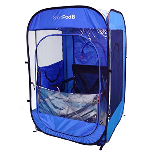SoloPod UnderCover All Weather SportPod Pop Up Chair Pod Tent - Royal Blue