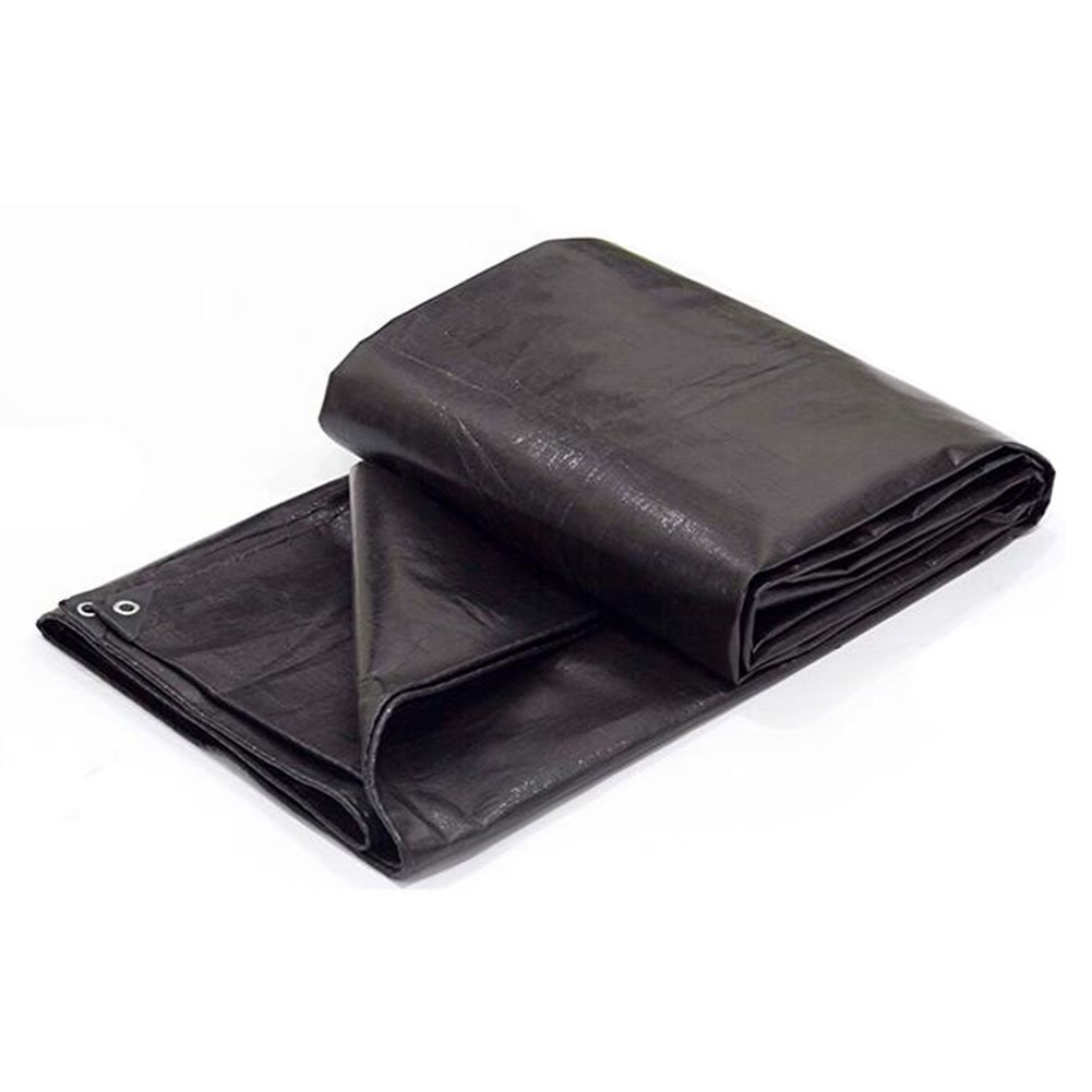 AJZXHE Verdicken Sie schwarzen im Freien Wasserdichten Wasserdichten Sonnenschutz, der Zeltzeltzelt-Plastikblatt reißfest, schwarz bedeckt -Plane
