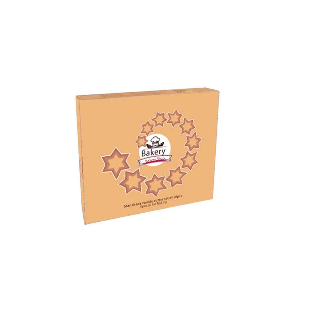 Amazon.com: Star - Juego de cortadores de galletas (10 ...