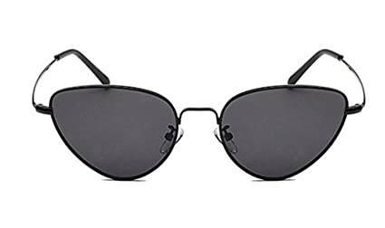 9f145f1fcad Bestutral Retro Cat Eye Sunglasses Women Yellow Red Lens Sun Glasses Metal  Eyewear Black