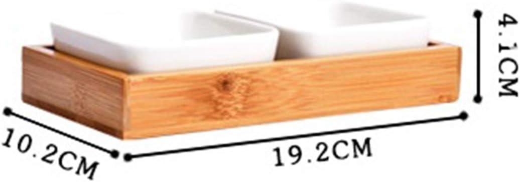 Essig Essig 28 * 19.2 * 4.1cm Two Compartments Essig Sushi N/üsse Hmane Keramik-Saucen-Sch/üssel mit Unterteilung f/ür Gew/ürze