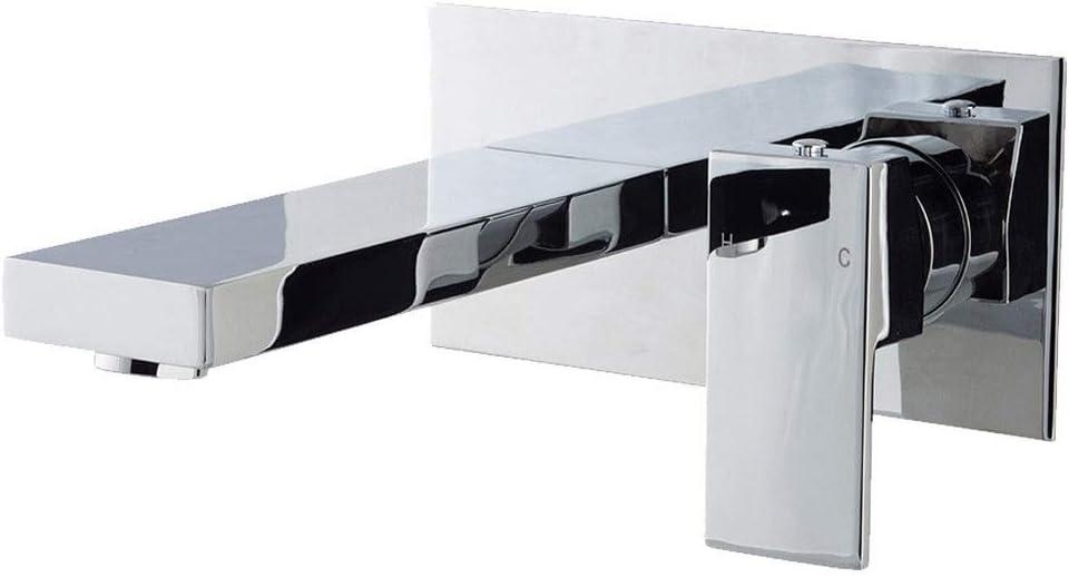 Cassellie Form Wall Mounted Bath Filler Tap Chrome Flush Bathrooms