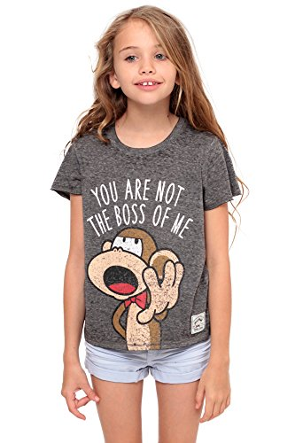 Bobby Jack You Are Not The Boss Of Me - Crop Top - Charcoal