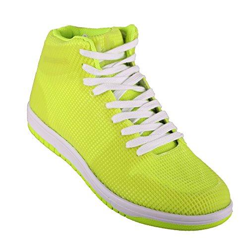 Hoodboyz Glow Herren High-Sneaker Neon Gelb Weiß Neon Gelb
