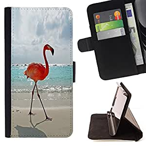 - Queen Pattern FOR Apple Iphone 6 /La identificaci????n del cr????dito ranuras para tarjetas tir????n de la caja Cartera de cuero cubie - flamingo summer Miami sun sea beach -