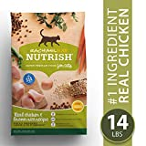 Rachael Ray Nutrish Premium Natural Dry Cat Food, Real Chicken & Brown Rice Recipe, 14 Lbs