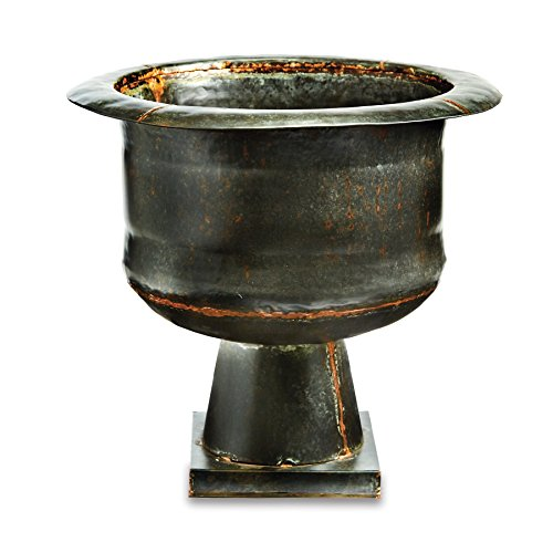 Mud Pie Galvanized Tin Pedestal Bronze Planter Copper Pedestal Planter