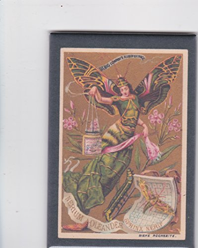 Liebig Fleisch Decorator Fridge Magnet Butterfly Lady 2x3