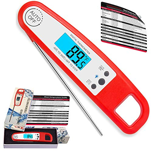 Water-Resistant New Super Accurate Instantaneous Reading Meat, Food,Candies Thermometer