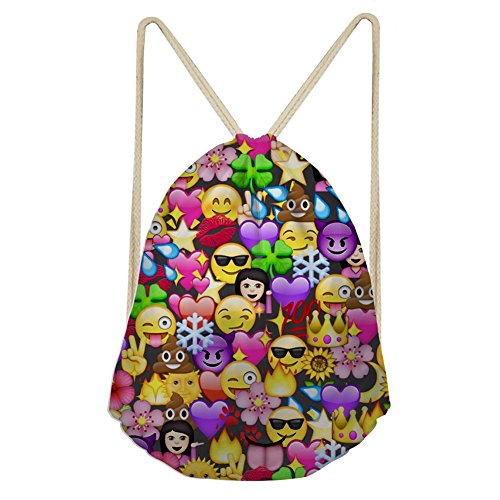 ring Backpack Bag for Birthday Cute Assorted Emoticon sack ()