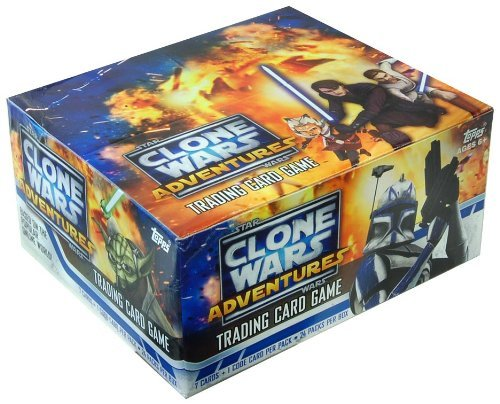 (Star Wars Clone Wars Adventures Trading Card Game Box of 24 Packs)