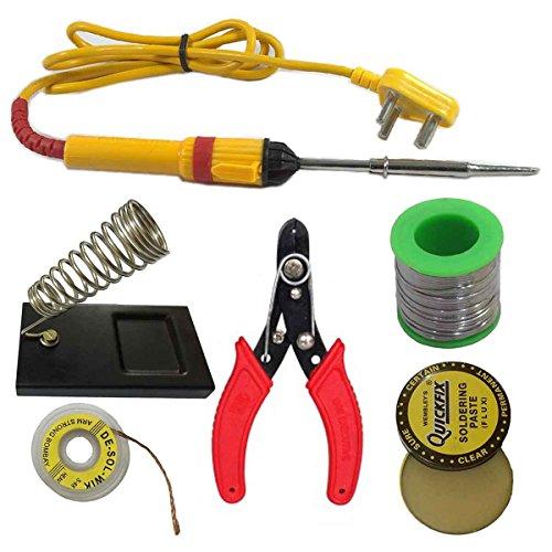 AdraXx 6 In1 Electric Soldering Iron Stand Tool Wire Stripper Kit 25 Watt Welding Stick Set (B01MA1NM2W) Amazon Price History, Amazon Price Tracker
