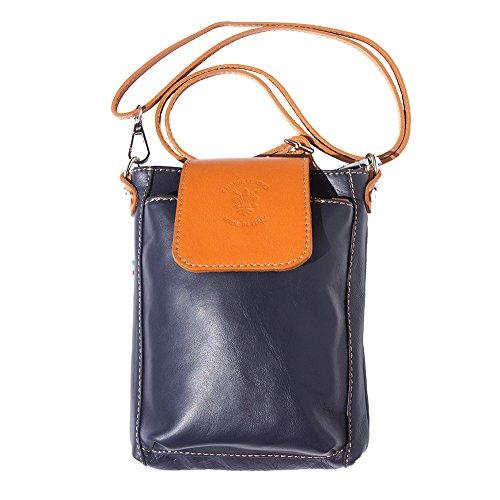 "Bandolera Florence Claro Azul Cuero De marron Leather Market ""stella Bolso 9607 Marino qtPatRnr"