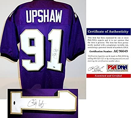 805b20f9c2c Image Unavailable. Image not available for. Color  Courtney Upshaw Signed - Autographed  Custom Jersey ...