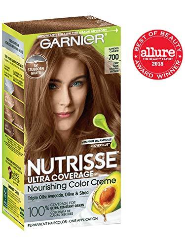 Garnier Nutrisse Ultra Coverage Hair Color, Deep Dark Natural Blonde (Candied Cashew) 700 (Packaging May Vary) (Best Hair Color For Natural Dirty Blondes)