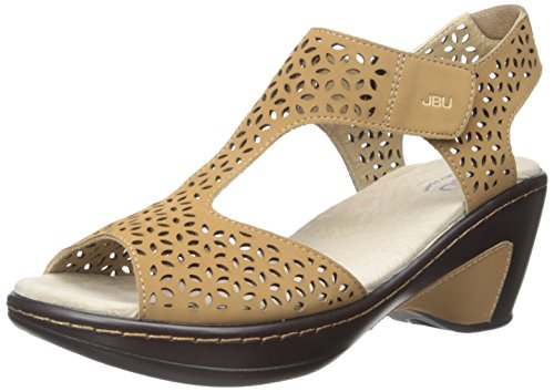 JBU Women's Chloe Wedge Sandal, Sand, 9 M US