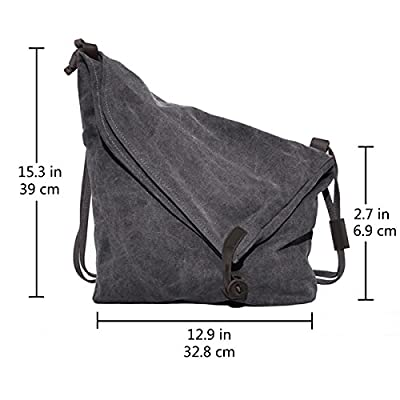 Crossbody Bag, COOFIT Messenger Bag Casual Canvas Hobo Bag Shouder Bag Unisex