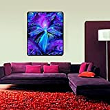 Meditation Room Decor, Blue & Purple Wall Art, Third Eye Chakra Art, ''The Seer''
