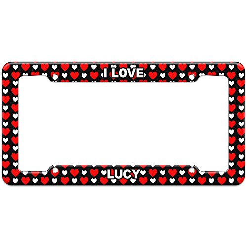 Graphics and More Hearts License Plate Frame I Love Name La-Mo - Lucy -