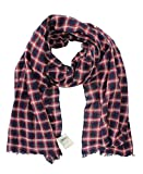 Lucky Brand - Men's - Wool/Cotton Windowpane Check Plaid Scarf