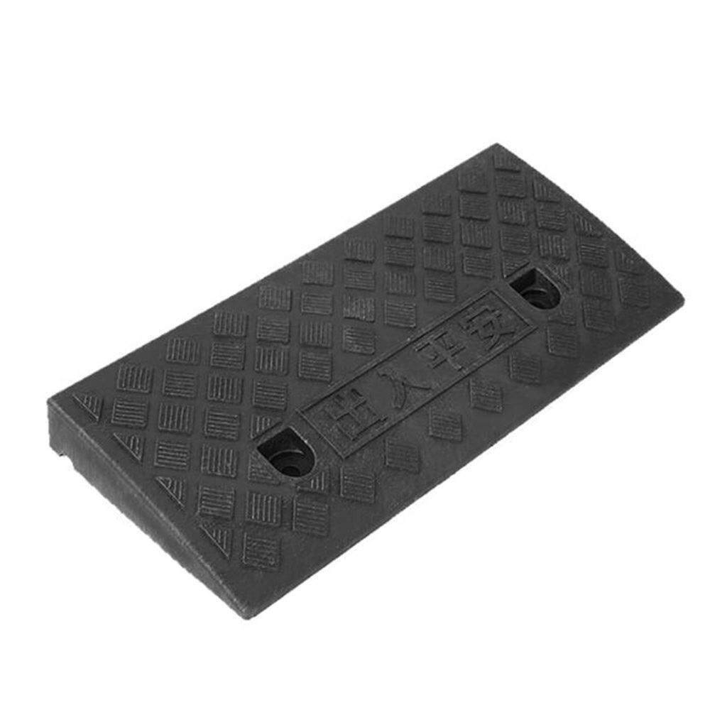 Kerb ramps Outdoor Triangle Slope Pad, Non-Slip Speed Bump Multifunction Car Garage Doorway Uphill Withstand Voltage Ramps Mat H:5-13.5CM (Size : 49 27 9CM) (Size : 13.5CM)