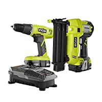 Ryobi ONE+ 18-Volt Lithium-Ion Drill/Driver Kit + Brad Nailer Combo