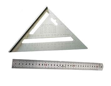 Lheng 7 pulgadas de aleación de aluminio triángulo de carpintero ...