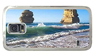 Hipster discount Samsung Galaxy S5 Cases beach rocks PC Transparent for Samsung S5 by lolosakes