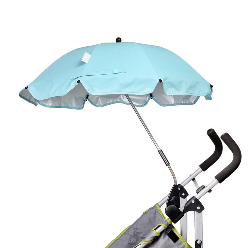 iRibbons Baby Stroller Umbrella Trolley Umbrella Baby Trolley Walker Baby Carts Cover Stroller Accessories (Light green)