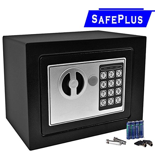 Durable Digital Electronic Safe Box Keypad Lock Home Office Hotel Gun Black