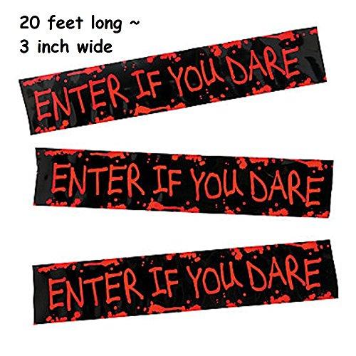 Enter if You Dare Streamer / Tape ~ Plastic ~ 3