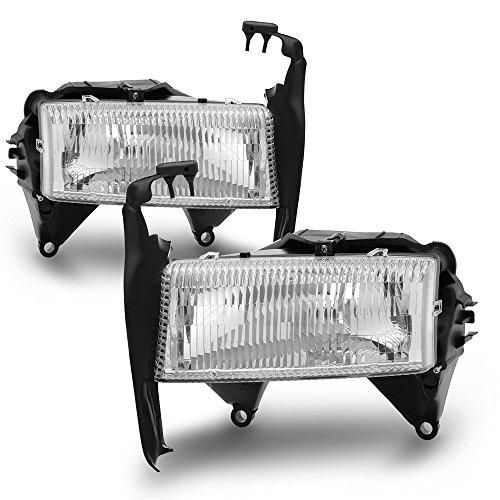 ACANII - For 1997-2004 Dodge Dakota Durango Headlights Replacement Headlamps w/Bracket 97-04 Driver + Passenger Side