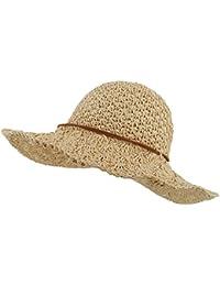 Womens Floppy Straw Hat Summer Beach brimmed Ladies Crushable Sun Hat
