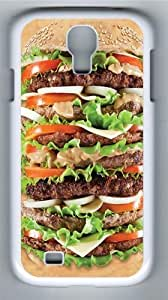 Epic Burger PC Case Cover for Samsung Galaxy S4 and Samsung Galaxy I9500 White