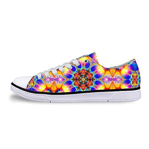 Per Te Disegni Elegante Unisex Glitter Canvas Canvas Fashion Sneaker Casual Lace-up Scarpe Basse Basse Superiori Multi B2