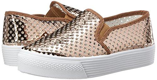 Qupid Stardust Sneaker Fashion Women's Rose 01 Gold zfzqPxO