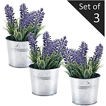 6 inch artificial lavender plant decor faux for Decorate with flowers amazon