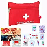 Cisixin 14 Pcs Light and Durable Medical Trauma Kit First Aid Kit for Travel Car Emergency Sports Survival Hiking Camping Home(Red)