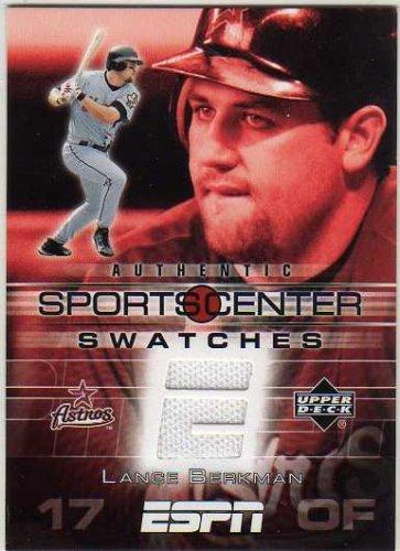 2005 Upper Deck ESPN Sports Center Swatches #LB Lance Berkman Game-Worn Jersey Card