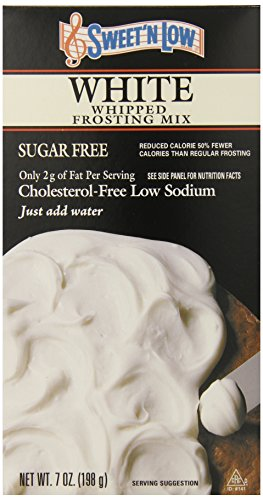 Sweet N Low White Frosting Mix, 7-Ounce (Pack of 6) (Cake Mix Low White)