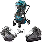 guzzie+Guss 3-in-1 Raincover (Car Seat, Bassinet, and Stroller Seat)