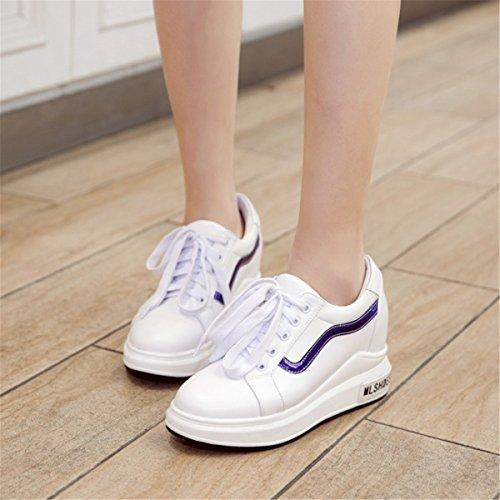 Sandalias Moda Casual Mujer Mujer Blue Aumentar Es Zapatos Calzados Zapatillas Elegante Calzado De pXEqAxA