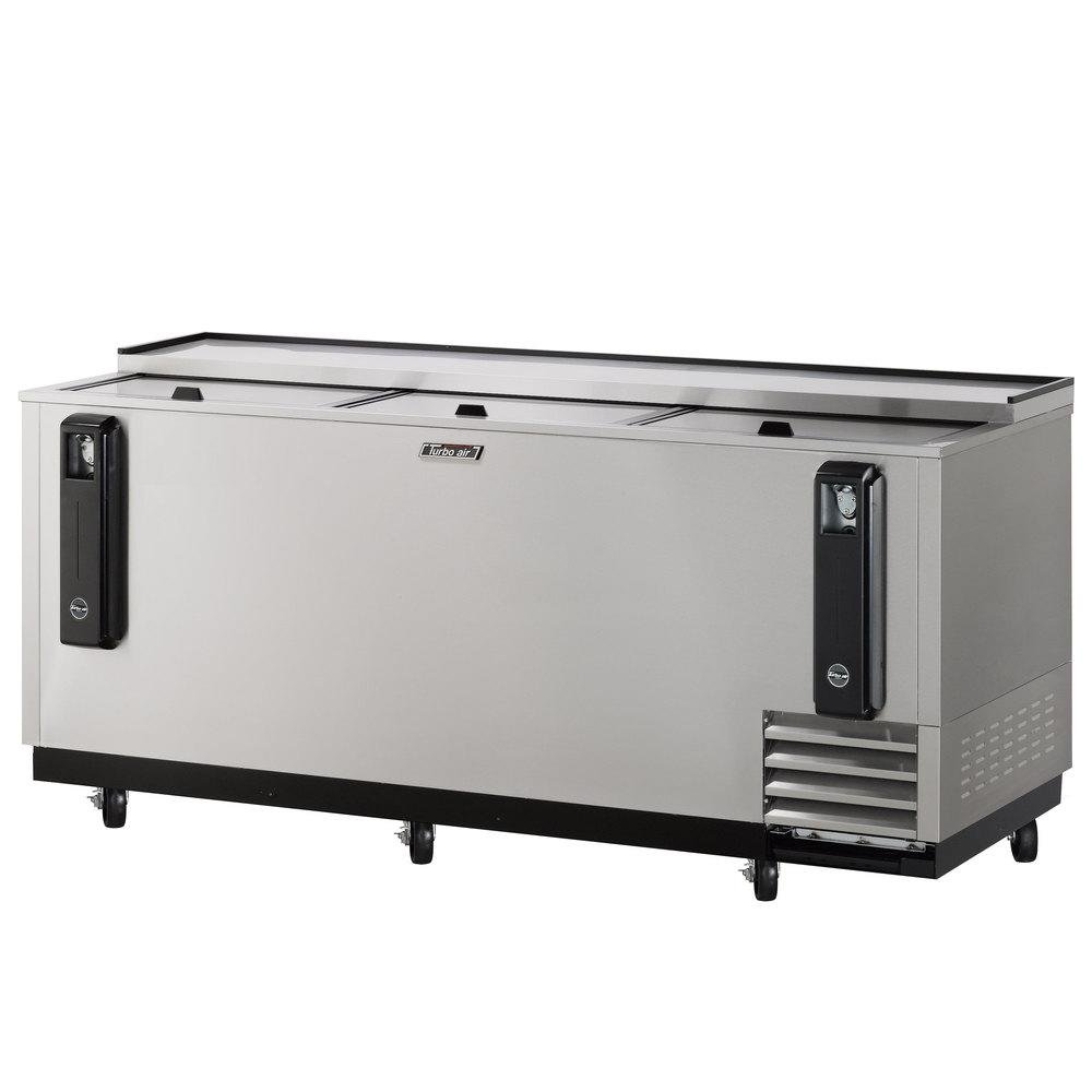 TBC80SD 22.6 cu. ft. Bottle Cooler with Forced Air Cooling System High Density PU Insulation PE Coated Dividers Efficient Refrigeration System and Stainless Steel Construction: Stainless Steel