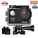 #9: Action Camera Sport Camera 1080P Full HD Waterproof Underwater Camera Davola WiFi Control with 170° Wide-angle Lens 12MP 2 Rechargeable Batteries and Mounting Accessories Kit