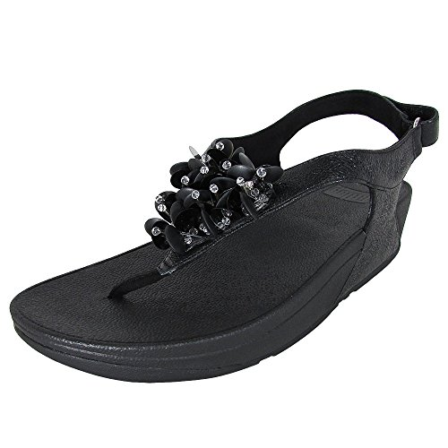 Fitflop Women's Boogaloo Strap Sling Back Sandals Black BRWX4sTc